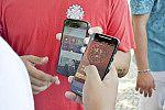 Uso de aplicativo em celular.