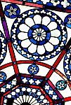 Detalhe em vitral do Castelo Mourisco