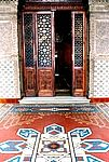 Detalhe do corredor da varanda do Castelo Mourisco