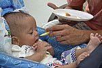 Alimentação do bebê.