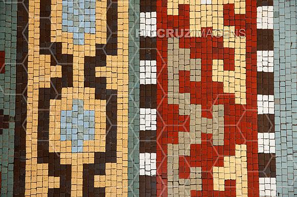 Piso em mosaico
