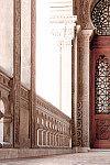 Detalhe da varanda frontal do Castelo Mourisco