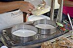 Preparo de tapioca.