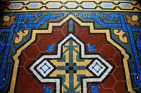 Piso em mosaico do Castelo Mourisco