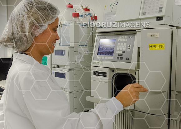 Análise em cromatógrafo