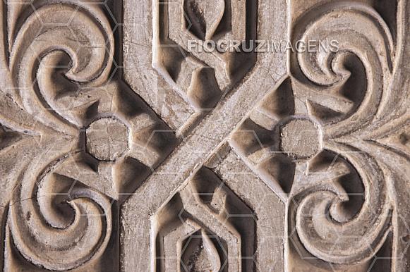 Detalhe ornamental do Castelo da Fiocruz