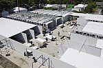 Montagem da estrutura do Centro Hospitalar