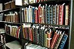 Estante de livros do Castelo Mourisco
