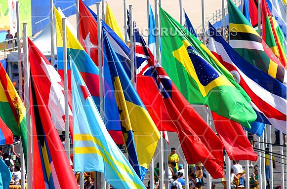 Bandeiras nacionais de diversos países