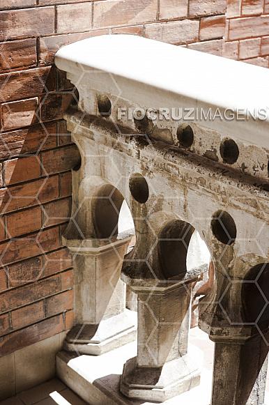 Detalhe da arquitetura do Castelo Mourisco